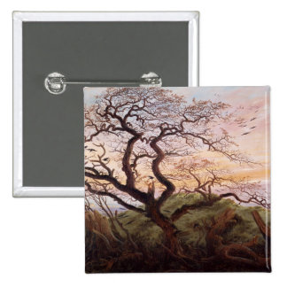 The Tree of Crows, 1822 2 Inch Square Button