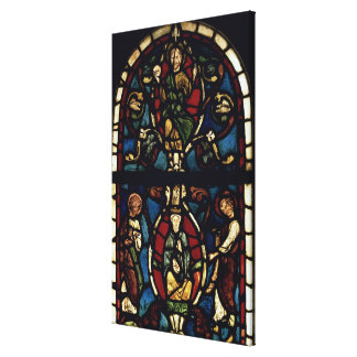 The Tree of Jesse, 13th century (stained glass) Canvas Print