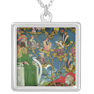 The Tree of Jesse, from the Dome Altar, 1499 Silver Plated Necklace