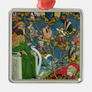 The Tree of Jesse, from the Dome Altar, 1499 Square Metal Christmas Ornament