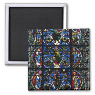 The Tree of Jesse, lancet window in the west facad 2 Inch Square Magnet