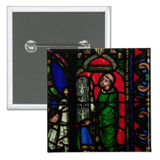 The Tree of Jesse Window 2 Inch Square Button