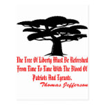 The Tree Of Liberty Must Be Refreshed From Time Post Card