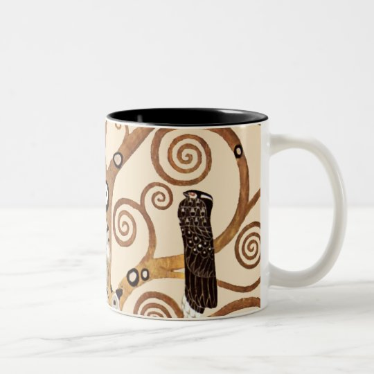 The Tree of Life by Gustav Klimt Two-Tone Coffee Mug