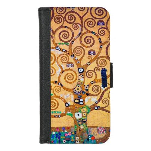 The Tree of Life (detail), Klimt Phone Case