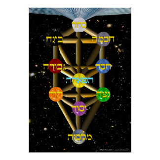 The Tree of Life | Hebrew and English | All Sizes Poster