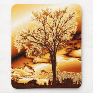 The Tree of Life in Molten Gold Mouse Pad