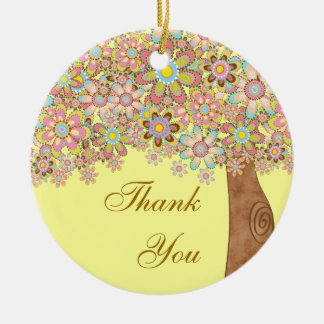 The Tree of Love Thank you Ceramic Ornament