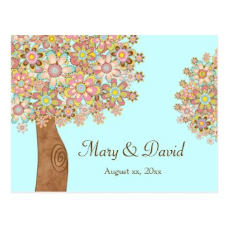 The Tree of Love Wedding Postcard