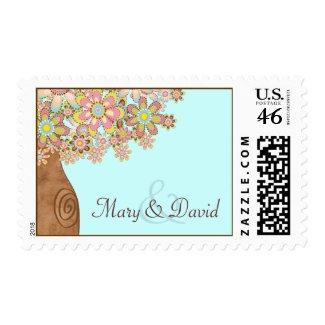 The Tree of Love Wedding Stamp