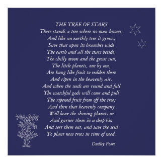 The Tree Of Stars Poem By Dudley Poore Poster
