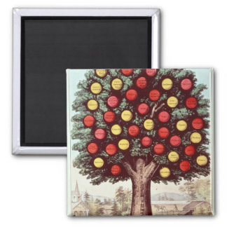 The Tree of Temperance, 1872 2 Inch Square Magnet