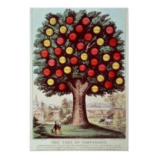 The Tree of Temperance, 1872 Poster