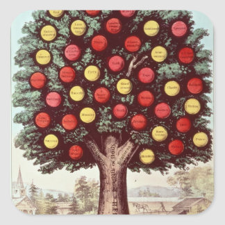 The Tree of Temperance, 1872 Square Sticker