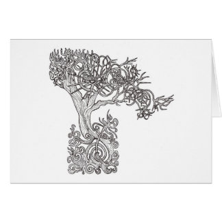 The tree of the sun greeting card
