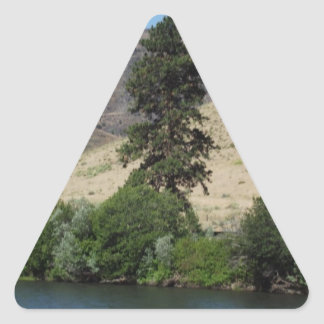 The Tree on the Other Side Triangle Sticker