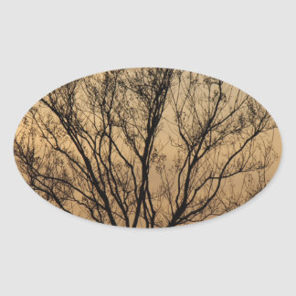 The Tree Oval Sticker