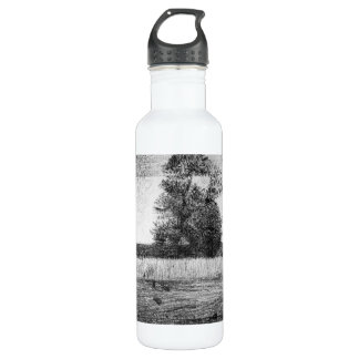 The trees by Georges Seurat 24oz Water Bottle