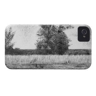The trees by Georges Seurat iPhone 4 Case-Mate Case
