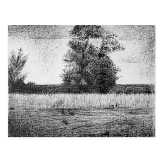 The trees by Georges Seurat Postcard