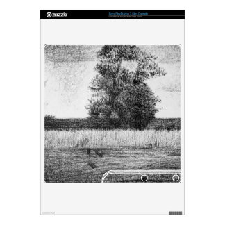 The trees by Georges Seurat Decals For PS3 Slim