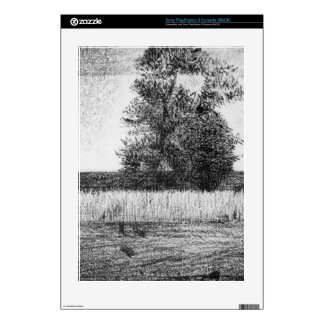 The trees by Georges Seurat Decal For PS3 Console