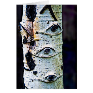 The trees have eyes . . . card