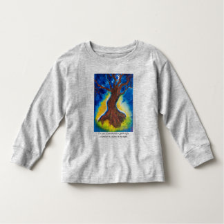 The trees shivered with a gentle light toddler t-shirt