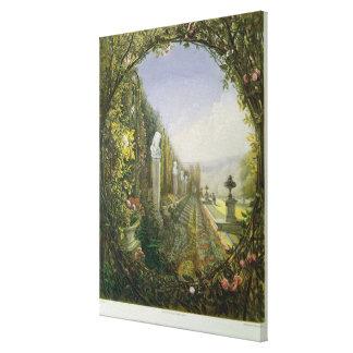 The Trellis Window, Trentham Hall Gardens Canvas Print