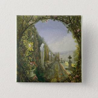 The Trellis Window, Trentham Hall Gardens Pinback Button