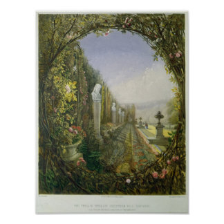 The Trellis Window, Trentham Hall Gardens Poster