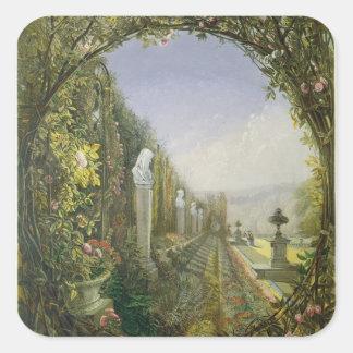 The Trellis Window, Trentham Hall Gardens Square Sticker