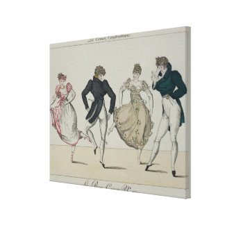 The 'Trenis' Quadrille, plate 19 from 'Le Bon Genr Canvas Print