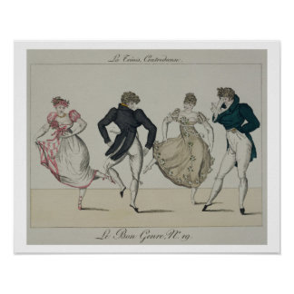 The 'Trenis' Quadrille, plate 19 from 'Le Bon Genr Poster