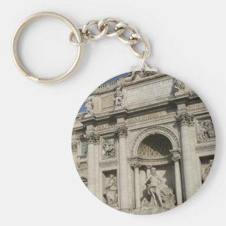 The Trevi Fountain Basic Round Button Keychain