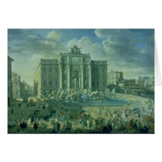 The Trevi Fountain in Rome, 1753-56 Card
