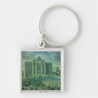 The Trevi Fountain in Rome, 1753-56 Keychain