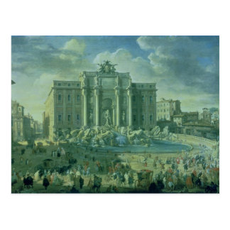 The Trevi Fountain in Rome, 1753-56 Postcards