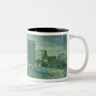 The Trevi Fountain in Rome, 1753-56 Two-Tone Coffee Mug