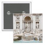 The Trevi Fountain (Italian: Fontana di Trevi) 2 Inch Square Button
