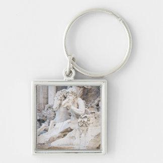 The Trevi Fountain (Italian: Fontana di Trevi) 2 Silver-Colored Square Keychain