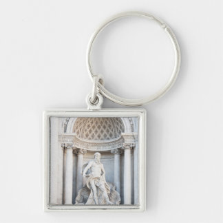 The Trevi Fountain (Italian: Fontana di Trevi) 3 Silver-Colored Square Keychain