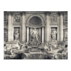 The Trevi Fountain (Italian: Fontana di Trevi) 4 Postcard