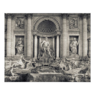 The Trevi Fountain (Italian: Fontana di Trevi) 4 Poster