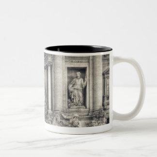 The Trevi Fountain (Italian: Fontana di Trevi) 4 Two-Tone Coffee Mug