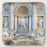 The Trevi Fountain (Italian: Fontana di Trevi) 5 Beverage Coasters
