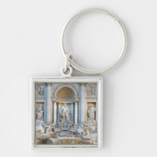 The Trevi Fountain (Italian: Fontana di Trevi) 5 Silver-Colored Square Keychain