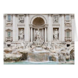 The Trevi Fountain (Italian: Fontana di Trevi) Card