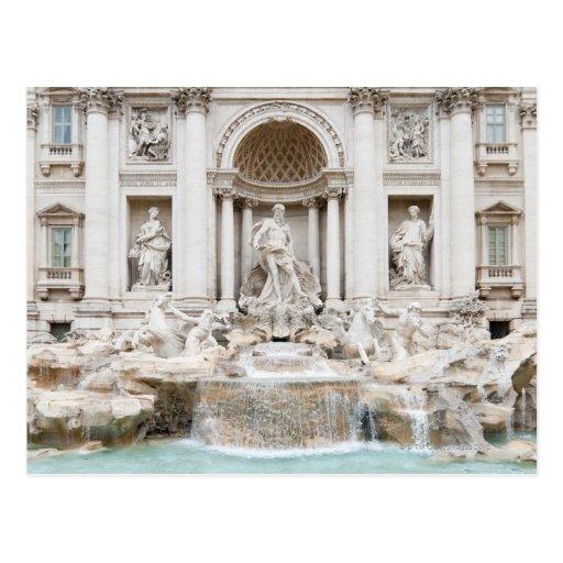 The Trevi Fountain (Italian: Fontana di Trevi) Postcard