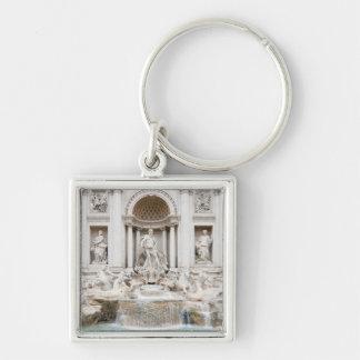 The Trevi Fountain (Italian: Fontana di Trevi) Silver-Colored Square Keychain